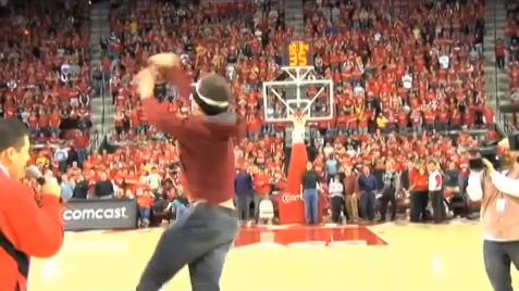 Amir Shoots Half court Shot