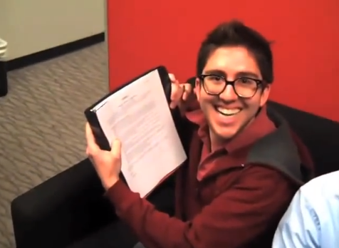 Amir Signing Paperwork