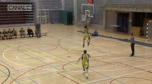 Belgian Player Alley Oop Putback Miss on Own Basket