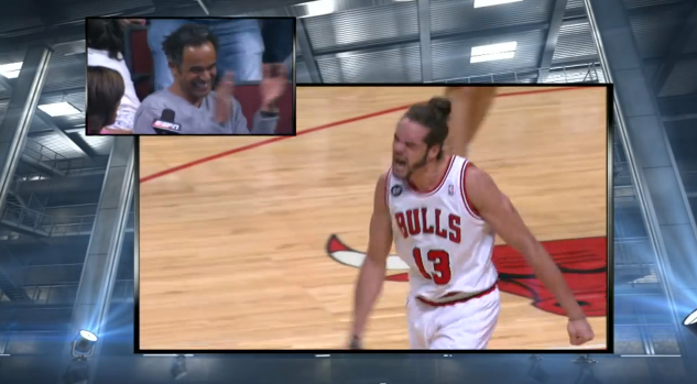 Joakim Noahs Dad Cheering Him On