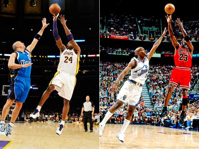 Kobe Bryant Michael Jordan Fadeaway