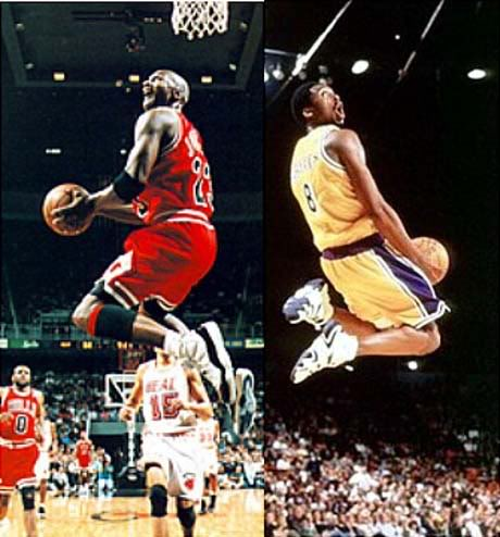 Kobe Bryant Michael Jordan Identical Highlights
