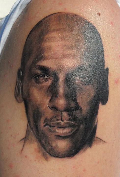 Michael Jordan Face Tattoo