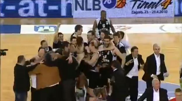 Opposing team celebrates