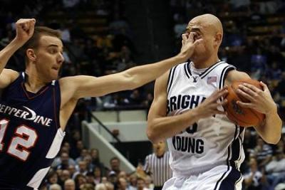 Pepperdine hand to face Brigham Young defender