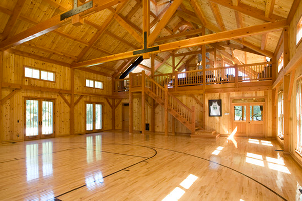23 of the most amazing unique basketball courts you will for Indoor home basketball court cost