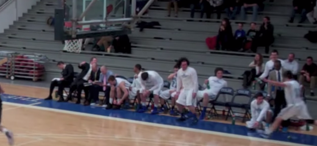 Colby College Bench Celebrate