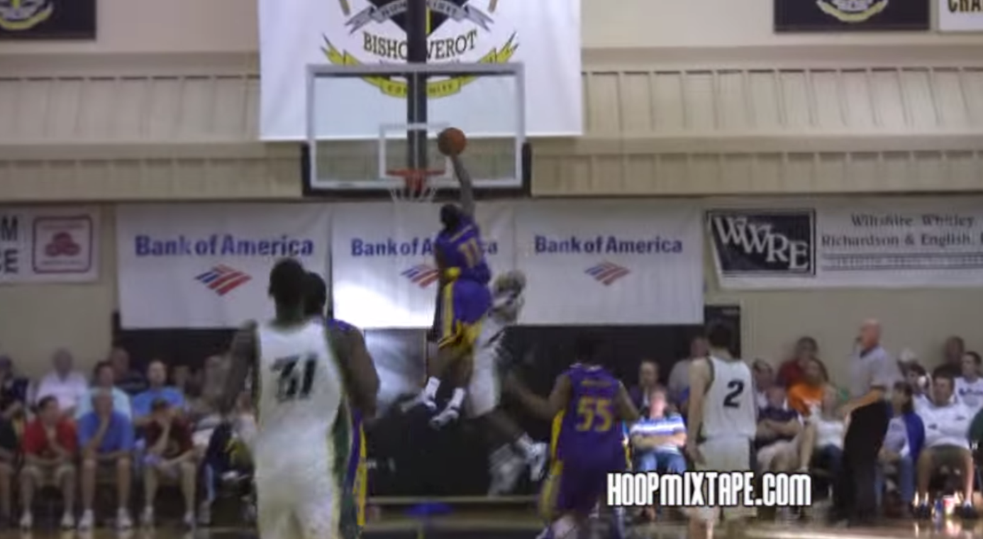 John Wall Block in High School