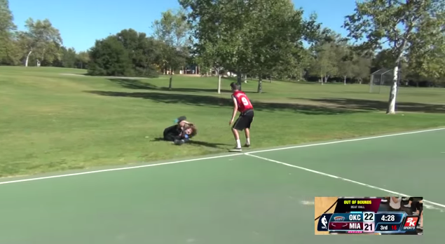 NBA 2K14 in Real Life Fould Out of Bounds