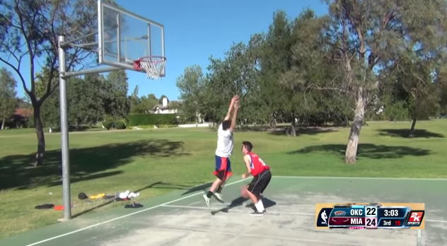 NBA 2K14 in Real Life Hold Ball