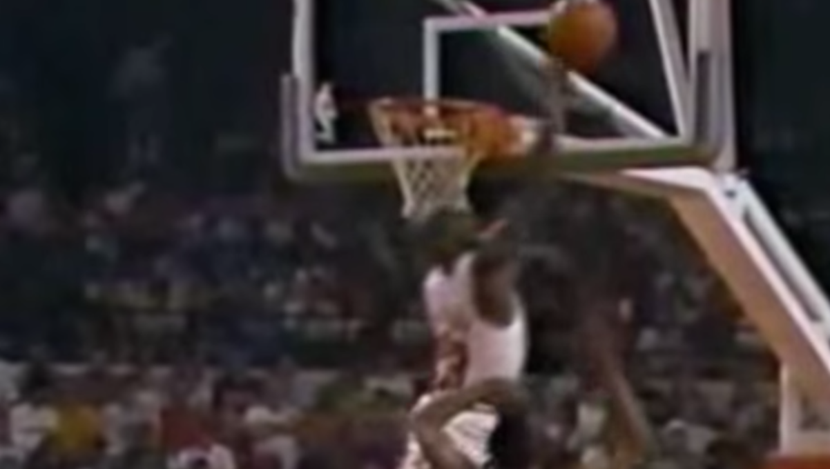 Michael Jordan Blocks Dennis Rodman Three Times
