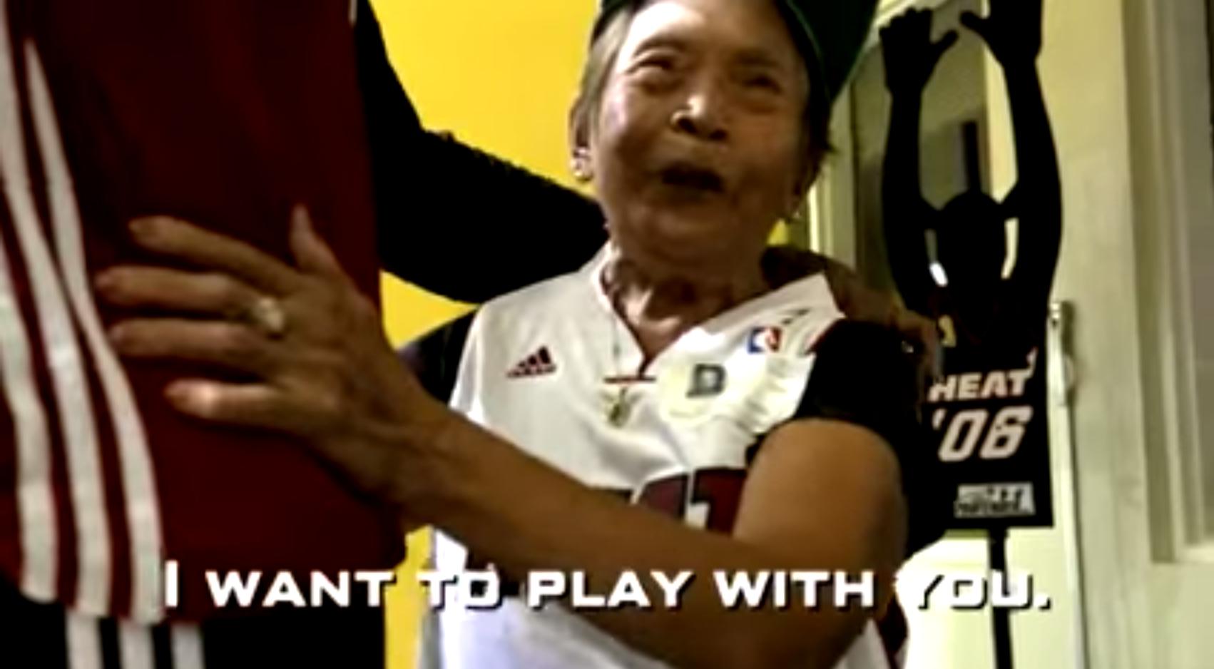 90 year old grandma dwyane wade