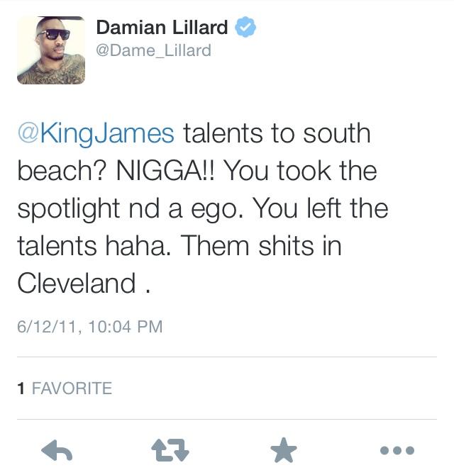 Dame Lillard LeBron James Twitter