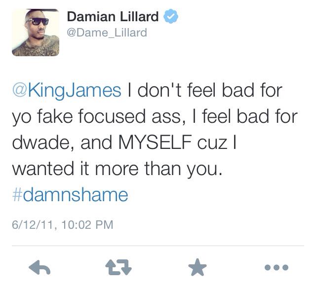 Damian Lillard LeBron James Twitter Beef