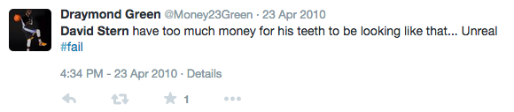 Draymond Green David Stern Tweet