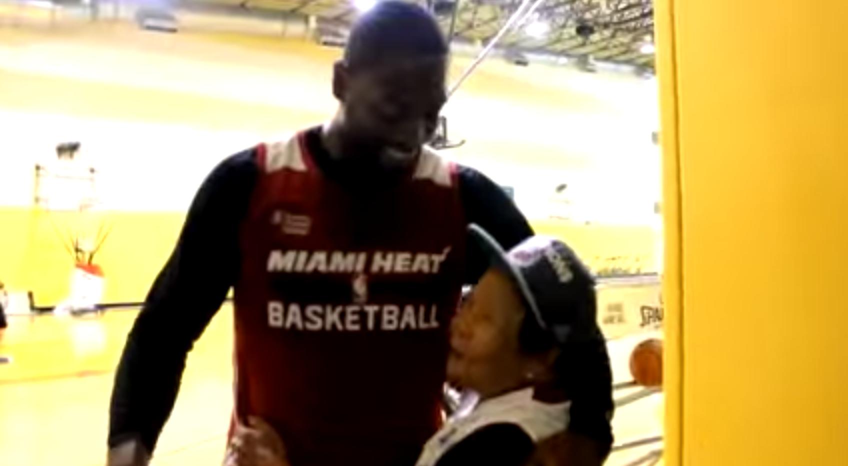 Dwyane Wade Meets Grandma Nelly