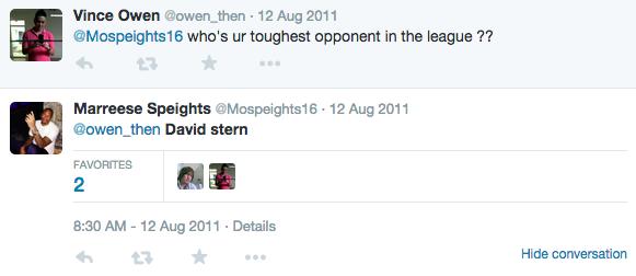 Mo Speights David Stern tweet