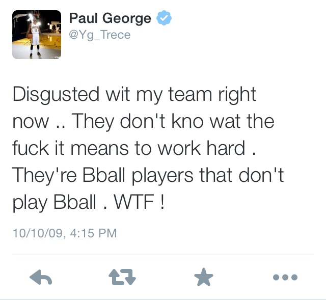 Paul George Tweets