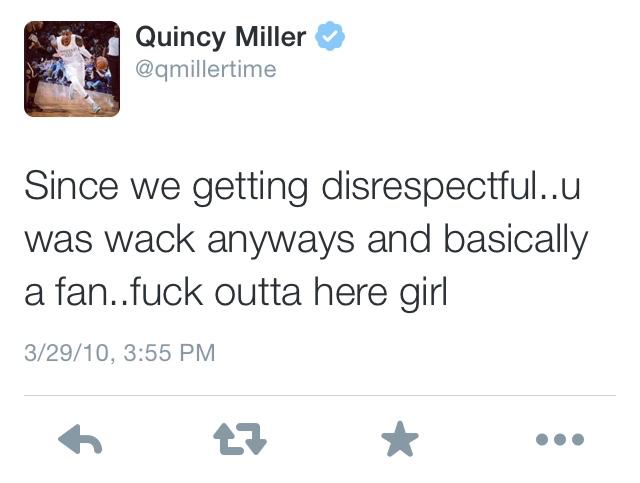 Quincy Miller Tweet