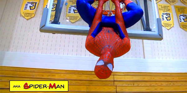 Spider-Man-Hanging-on-Rim