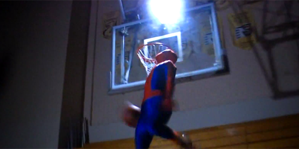 Spiderman-dunking-at-night