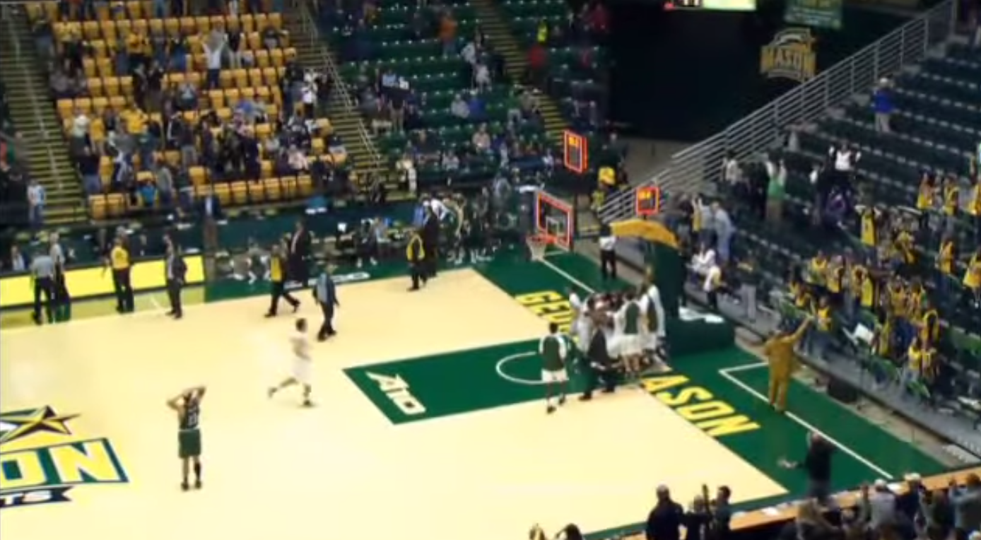 George Mason Manhattan Game Winner Celebration