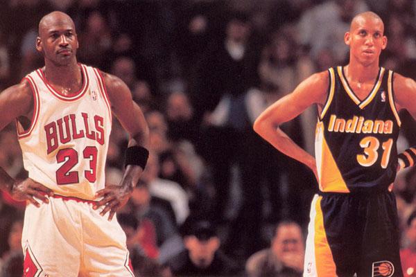 Reggie Miller Michael Jordan Black Jesus
